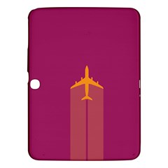 Airplane Jet Yellow Flying Wings Samsung Galaxy Tab 3 (10 1 ) P5200 Hardshell Case
