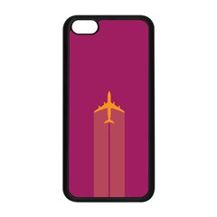 Airplane Jet Yellow Flying Wings Apple Iphone 5c Seamless Case (black)