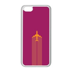 Airplane Jet Yellow Flying Wings Apple Iphone 5c Seamless Case (white)