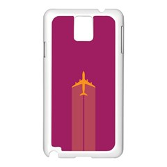 Airplane Jet Yellow Flying Wings Samsung Galaxy Note 3 N9005 Case (white)