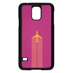 Airplane Jet Yellow Flying Wings Samsung Galaxy S5 Case (black)
