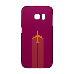 Airplane Jet Yellow Flying Wings Galaxy S6 Edge