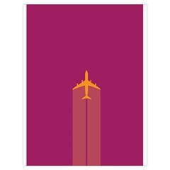 Airplane Jet Yellow Flying Wings Drawstring Bag (large)