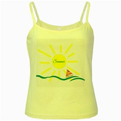 Summer Beach Holiday Holidays Sun Yellow Spaghetti Tank