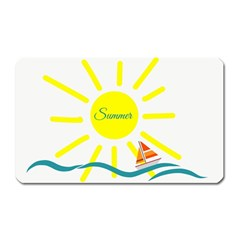 Summer Beach Holiday Holidays Sun Magnet (rectangular)