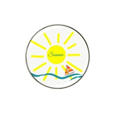 Summer Beach Holiday Holidays Sun Hat Clip Ball Marker (10 Pack)