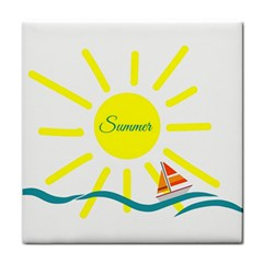 Summer Beach Holiday Holidays Sun Face Towel