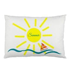 Summer Beach Holiday Holidays Sun Pillow Case