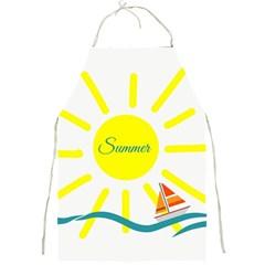 Summer Beach Holiday Holidays Sun Full Print Aprons