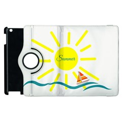 Summer Beach Holiday Holidays Sun Apple Ipad 3/4 Flip 360 Case