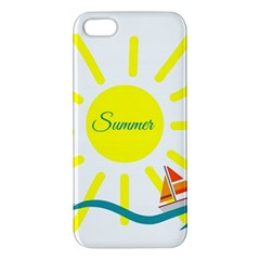 Summer Beach Holiday Holidays Sun Apple Iphone 5 Premium Hardshell Case
