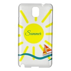 Summer Beach Holiday Holidays Sun Samsung Galaxy Note 3 N9005 Hardshell Case
