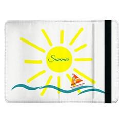 Summer Beach Holiday Holidays Sun Samsung Galaxy Tab Pro 12 2  Flip Case