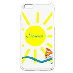 Summer Beach Holiday Holidays Sun Apple Iphone 6 Plus/6s Plus Enamel White Case