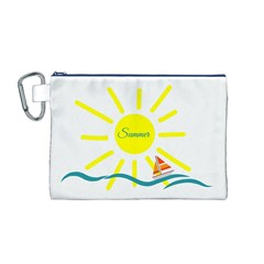 Summer Beach Holiday Holidays Sun Canvas Cosmetic Bag (m)