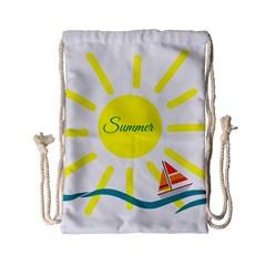 Summer Beach Holiday Holidays Sun Drawstring Bag (small)