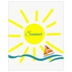 Summer Beach Holiday Holidays Sun Drawstring Bag (Small) Back