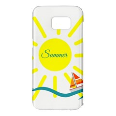 Summer Beach Holiday Holidays Sun Samsung Galaxy S7 Edge Hardshell Case