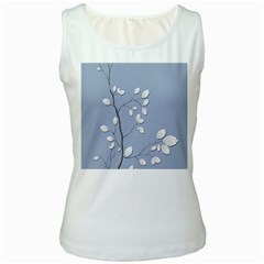 Branch Leaves Branches Plant Women s White Tank Top