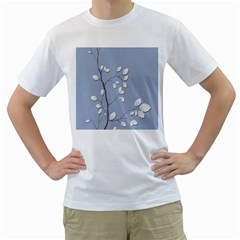 Branch Leaves Branches Plant Men s T Shirt (white) (two Sided)