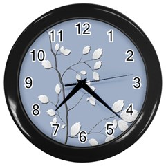 Branch Leaves Branches Plant Wall Clocks (black)