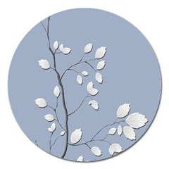 Branch Leaves Branches Plant Magnet 5  (round)