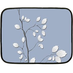 Branch Leaves Branches Plant Double Sided Fleece Blanket (mini)