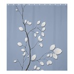 Branch Leaves Branches Plant Shower Curtain 66  x 72  (Large)  58.75 x64.8 Curtain