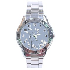Branch Leaves Branches Plant Stainless Steel Analogue Watch