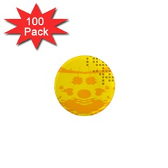 Texture Yellow Abstract Background 1  Mini Magnets (100 Pack)