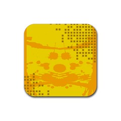 Texture Yellow Abstract Background Rubber Coaster (square)