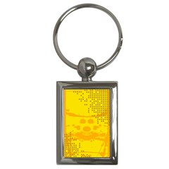 Texture Yellow Abstract Background Key Chains (rectangle)