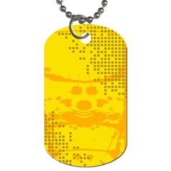 Texture Yellow Abstract Background Dog Tag (two Sides)