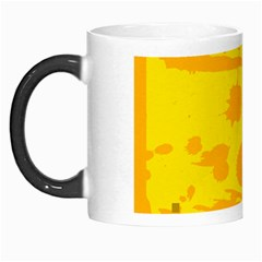 Texture Yellow Abstract Background Morph Mugs