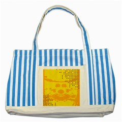Texture Yellow Abstract Background Striped Blue Tote Bag