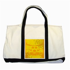 Texture Yellow Abstract Background Two Tone Tote Bag