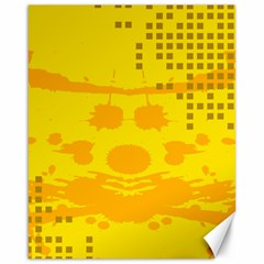 Texture Yellow Abstract Background Canvas 16  X 20