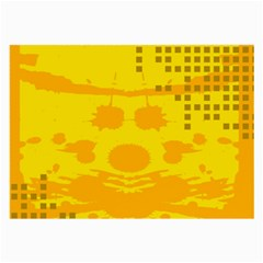 Texture Yellow Abstract Background Large Glasses Cloth (2 Side)