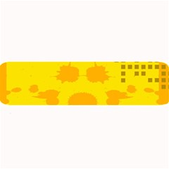 Texture Yellow Abstract Background Large Bar Mats