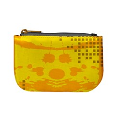 Texture Yellow Abstract Background Mini Coin Purses