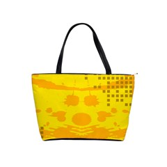 Texture Yellow Abstract Background Shoulder Handbags