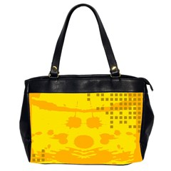 Texture Yellow Abstract Background Office Handbags (2 Sides)