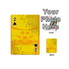 Texture Yellow Abstract Background Playing Cards 54 (mini)
