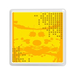 Texture Yellow Abstract Background Memory Card Reader (square)