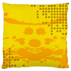 Texture Yellow Abstract Background Large Cushion Case (two Sides)