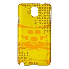 Texture Yellow Abstract Background Samsung Galaxy Note 3 N9005 Hardshell Case