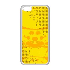 Texture Yellow Abstract Background Apple Iphone 5c Seamless Case (white)