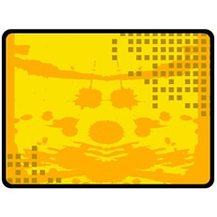 Texture Yellow Abstract Background Double Sided Fleece Blanket (large)