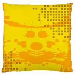 Texture Yellow Abstract Background Large Flano Cushion Case (one Side)