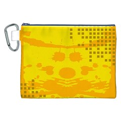 Texture Yellow Abstract Background Canvas Cosmetic Bag (xxl)
